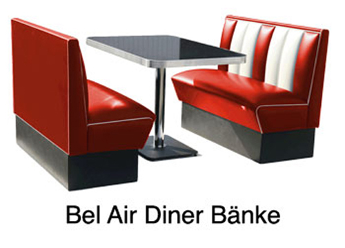 route 66 store belair jolina 50er jahre diner moebel. Black Bedroom Furniture Sets. Home Design Ideas