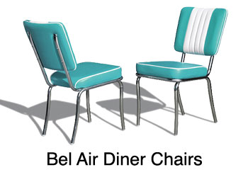 Gentil ... Bel Air Retro Diner Chair For Restaurant, Kitchen, Living Room, Diner  Chair For
