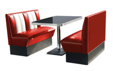 route 66 store bel air diner booth set hw 120. Black Bedroom Furniture Sets. Home Design Ideas