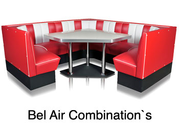 bel air diner booth combinations for restaurant, booth combinations for private home,