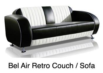 bel air retro sofas and retro couches for living rooms, restaurants, retro couch for lounge, couch for doctors waiting room,