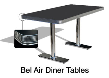 bel air retro diner table for restaurant, bar, private home, kitchen, diner table office,