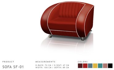 BelAir Retro Fauteul SF-01 Ruby