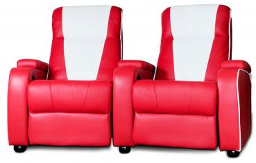 Metro Home Cinema Chair Double Red