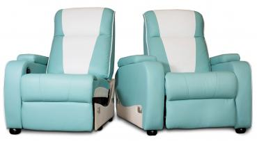 Metro Home Cinema Chair Double Turquoise