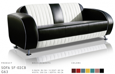 BelAir Retro Sofa SF-02CB G63 Black