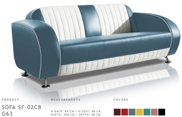 BelAir Retro Sofa SF-02CB G63 Blue