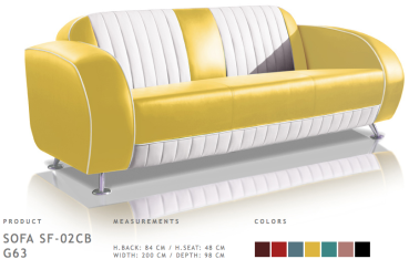 BelAir Retro Sofa SF-02CB G63 Yellow