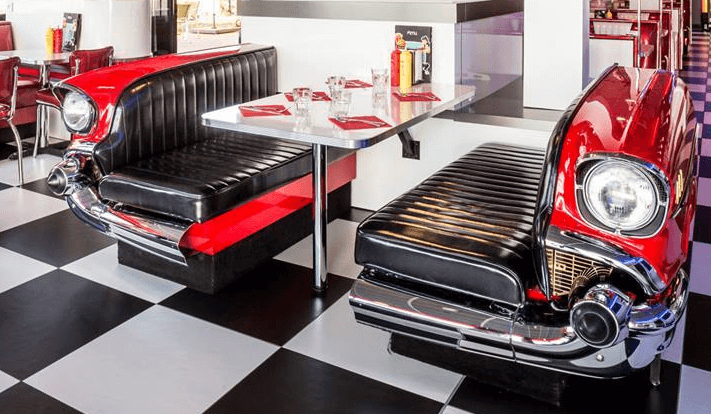 Route 66 Store Classic Car Diner Booth Chevrolet Bel